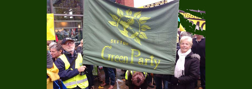 Anti -Fracking March in Manchester